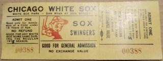 1975 Chicago White Sox Swingers ticket stub 13