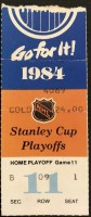 1984 Stanley Cup Final Game 5 ticket stub NY Islanders Oilers
