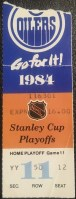 1984 Stanley Cup Final Game 5 ticket stub Islanders Oilers