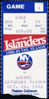 1989 Joe Sakic 1st Hat Trick ticket stub