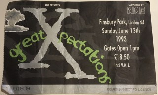 1993 The Cure ticket stub Finsbury Park 2.80