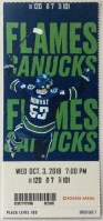 2018 Vancouver Canucks ticket stub vs Calgary