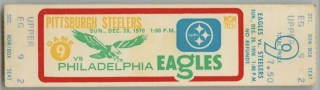 1970 Terry Bradshaw's First NFL Punt ticket stub 75