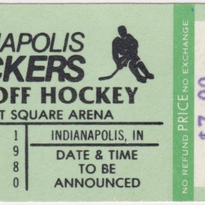 1980 Indianapolis Checkers Playoffs ticket for sale