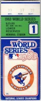 1983 World Series Game 1 ticket stub Phillies Orioles