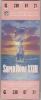 1989 Super Bowl ticket stub San Francisco vs Cincinnati