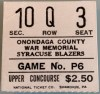 Syracuse Blazers Game P6 ticket stub