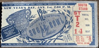 1946 Sugar Bowl ticket stub Oklahoma St. Mary's 25