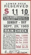 1963 Stan Musial Final Game ticket stub
