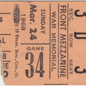 1968 AHL Rochester Americans ticket stub vs unknown
