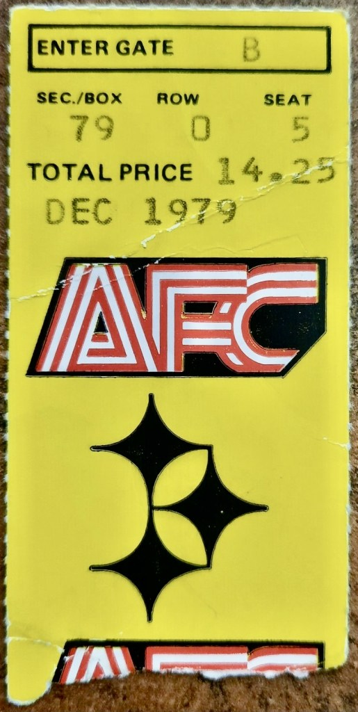1979 AFC Divisional Game ticket stub Dolphins at Steelers