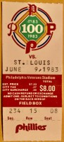 1983 Joe Morgan Career Home Run 250 ticket stub