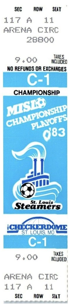 1983 MISL St. Louis Steamers Playoffs ticket stub