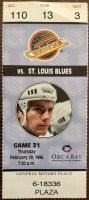 1996 Wayne Gretzky Blues debut ticket stub