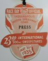 1935 Indianapolis 500 Die Cut Press Pass