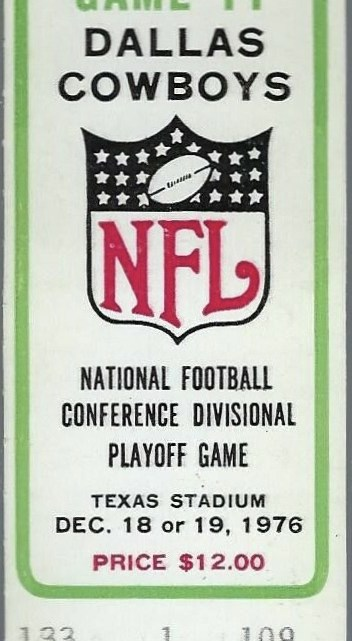 1976 NFC Championship Game ticket stub Rams Cowboys