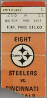 1979 Pittsburgh Steelers ticket stub vs Cincinnati