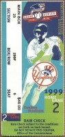 1999 ALDS Game 2 ticket stub Texas Rangers New York Yankees