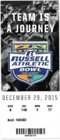 2015 Russell Athletic Bowl ticket stub Baylor North Carolina