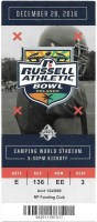 2016 Russell Athletic Bowl ticket stub Miami West Virginia