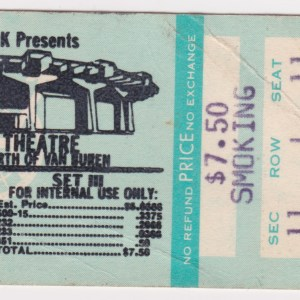 Lou Reed concert ticket stub Phoenix for sale