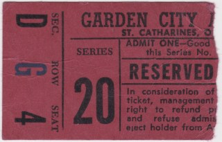 1976-77 OHL St. Catharines Fincups ticket stub