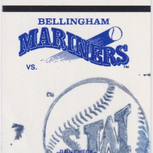 1992 Bellingham Mariners Grandstand ticket stub