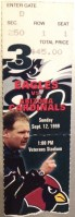 1999 Philadelphia Eagles ticket stub vs Arizona