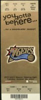 2003 Philadelphia 76ers ticket stub vs Miami