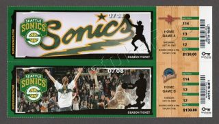 2008 Kevin Durant Home Debut ticket stub