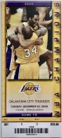 2009 Los Angeles Lakers ticket stub vs Thunder