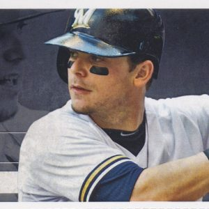 2015 Brewers Full Ticket vs Phillies Chase Utley HR