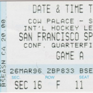 1996 IHL Playoffs SF Spiders ticket stub vs Chicago 1st Only Playoff victory