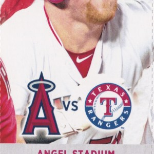 2017 Angels Full Ticket vs Rangers Apr 12 Mike Trout