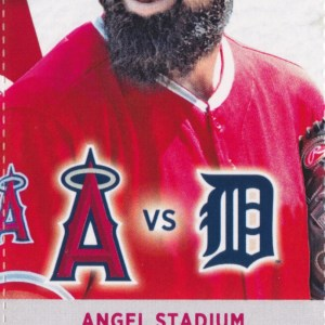 2017 Angels Full Ticket vs Tigers May 14 Mike Trout HR