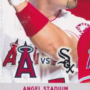2017 Angels Full Ticket vs White Sox May 15 Abreu Trout HRs