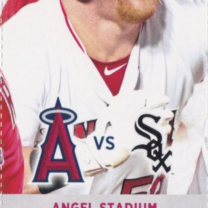 2017 Angels Full Ticket vs White Sox May 17 Abreu Trout HRs