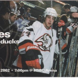2002 Curtis Brown Natural Hat Trick Full Ticket vs Mighty Ducks