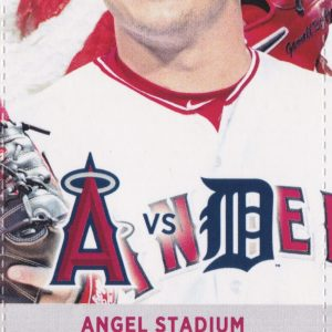 2017 Angels Full Ticket vs Tigers May 13 Upton Trout HRs