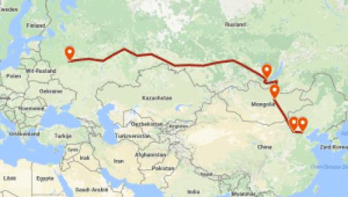 Route Transmongolië Express