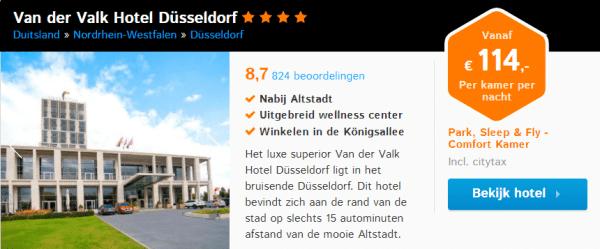 Voorbeeld Sleep, Park & Fly arrangement Düsseldorf