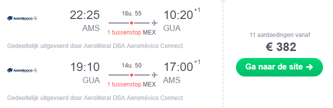 Voorbeeldboeking Guatemala 7 - 28 november
