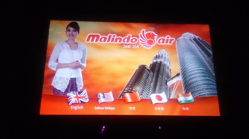 Malindo Air: Inflight enterainment