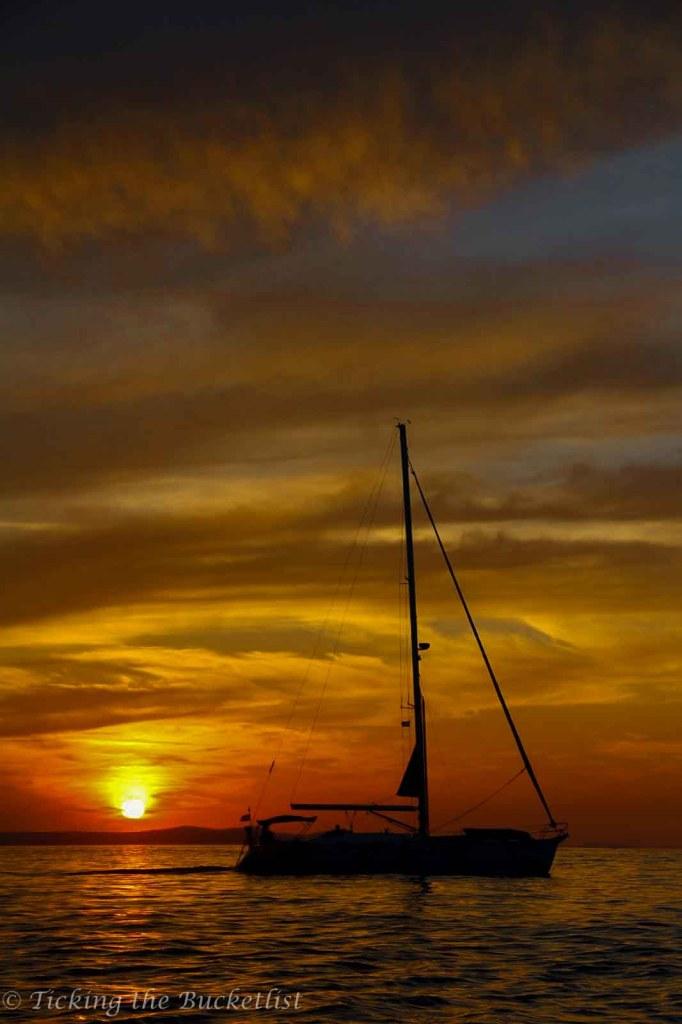 Sunset at the Sea Organ, Zadar (Croatia)