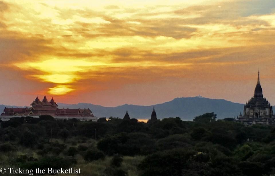 Sunset from Shwe Gu Gyi