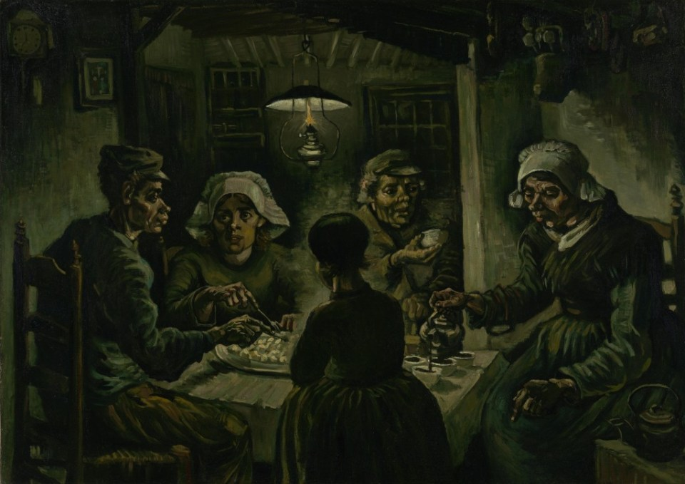 The Potato Eaters, one of Van Gogh's famous creations