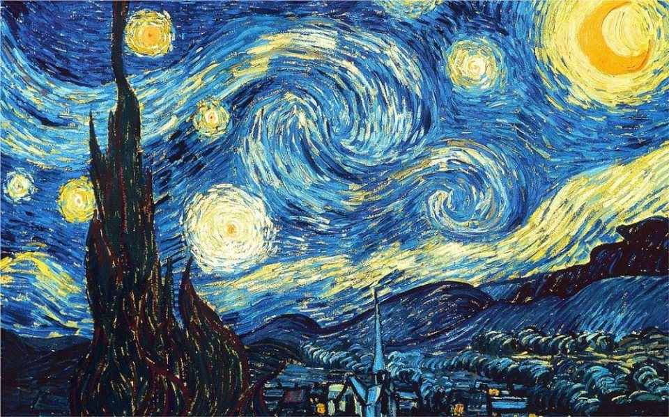 The Starry Night (Courtesy: Www.VanGogh.net)