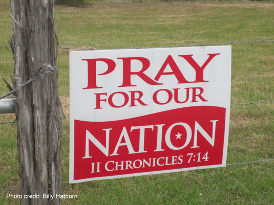 Image result for pray for our nation chronicles yard sign