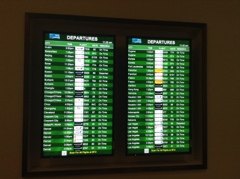 Departure and Arrival Screens keep you on time for your flight.