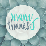 A Note of Thanks